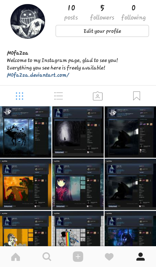 New Instagram Page by M0faZza