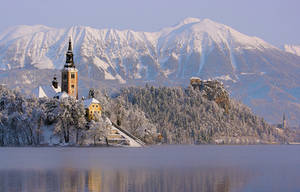 Bled island and castle by w.. by cinik33