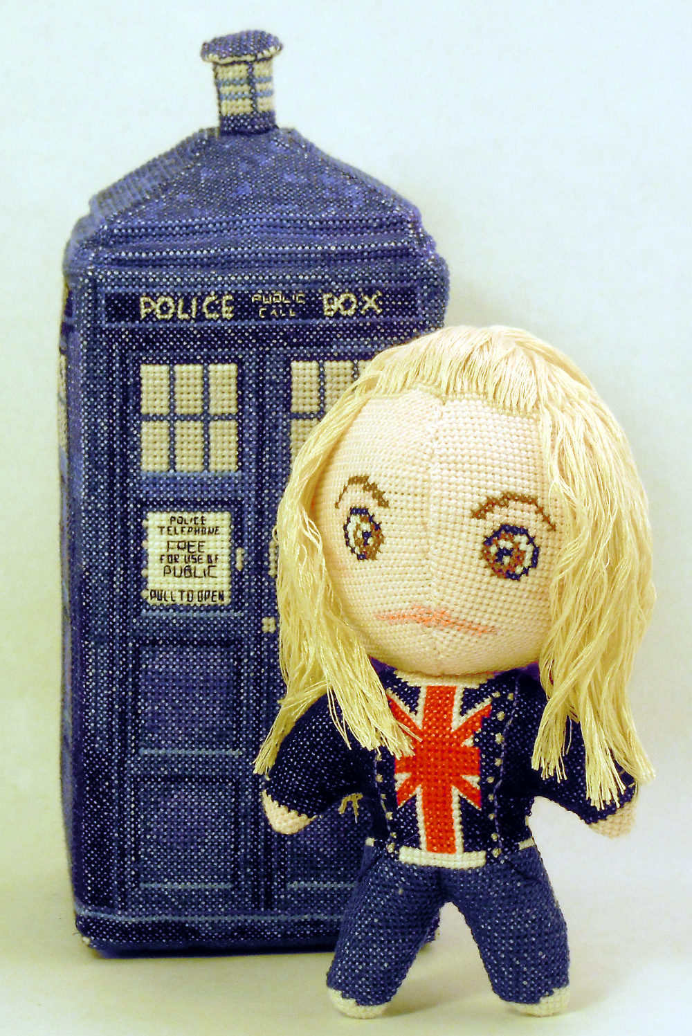 Rose Tyler 3D Cross Stitch Doll by rhaben
