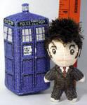 Itty Bitty 10th Doctor Doll Cross Stitch 3D