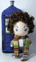 The Fourth Doctor Cross Stitch Doll
