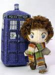 Tiny 4th Doctor Cross Stitch Doll