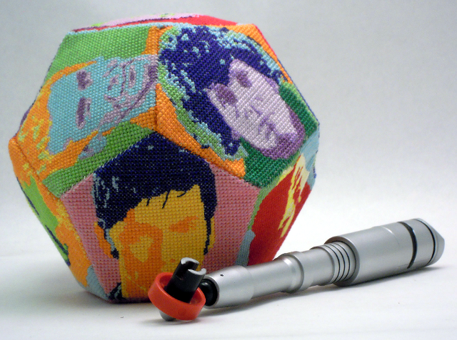 Doctor Who Dodecahedron 3D Cross Stitch by rhaben