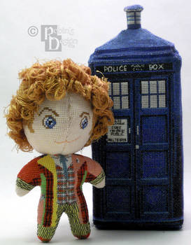 The Sixth Doctor 3D Cross Stitch Doll