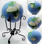 Earth Globe in 3D Cross Stitch