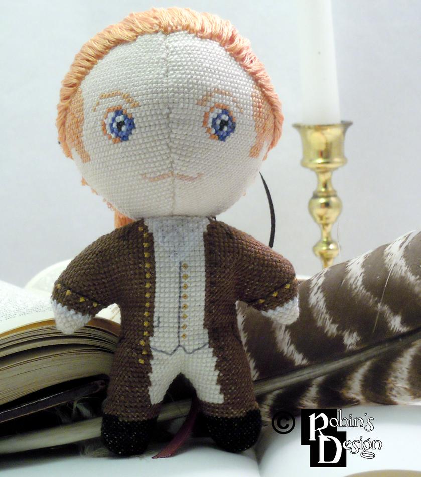 Historical Alexander Hamilton 3D Cross Stitch Doll by rhaben