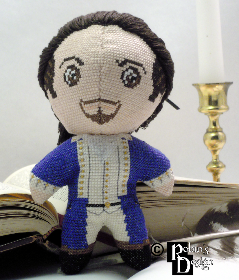 Alexander Hamilton 3D Cross Stitch Doll by rhaben