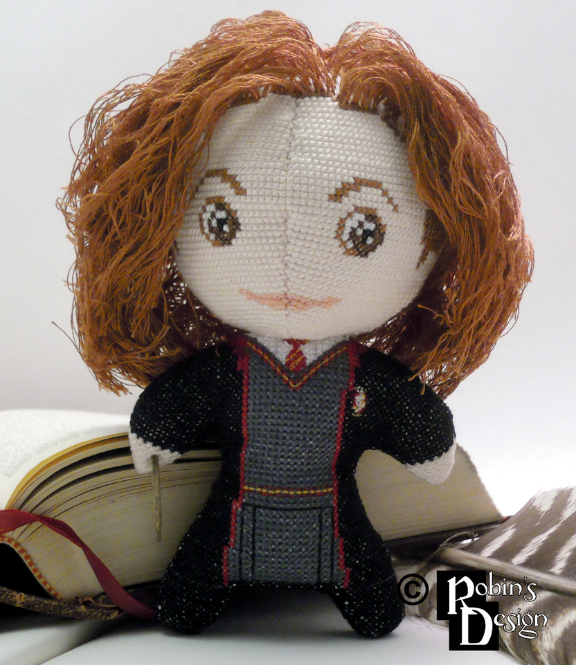Hermione Granger 3D Cross Stitch Doll by rhaben