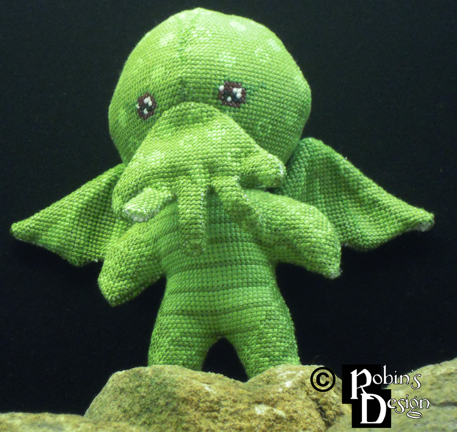 Cutethulhu 3D Cross Stitch Doll by rhaben