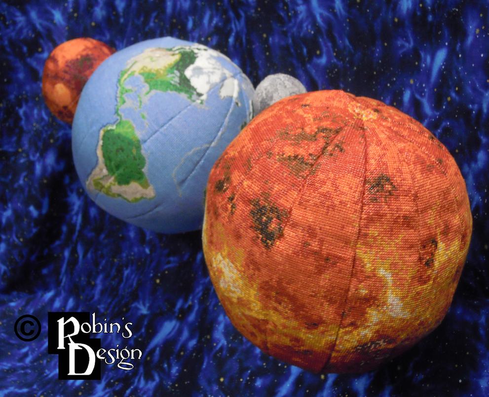Venus Globe 3D Cross Stitch by rhaben