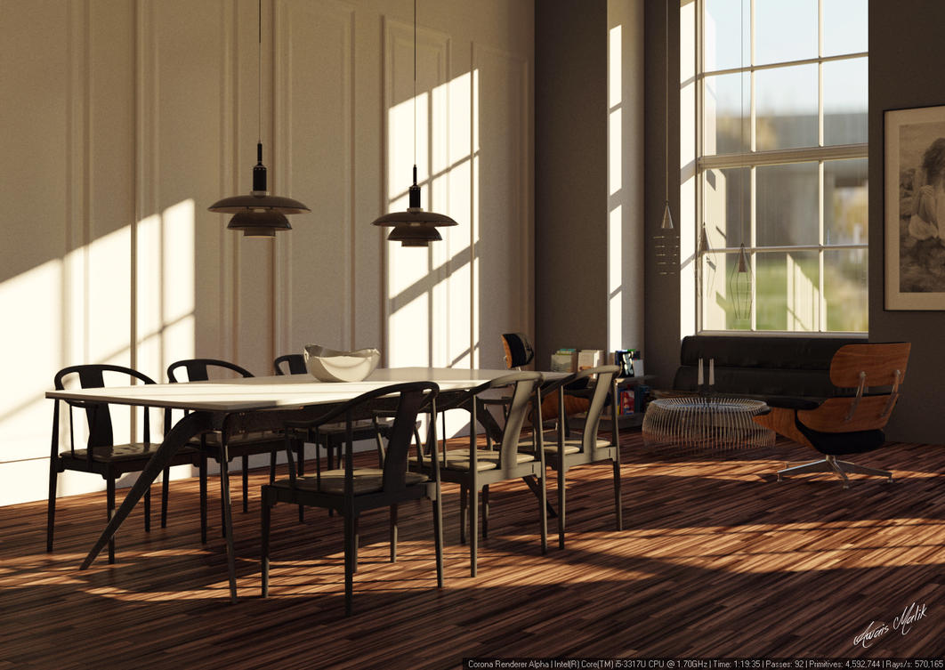 dining area 3ds max corona ps by awaismailk on deviantart
