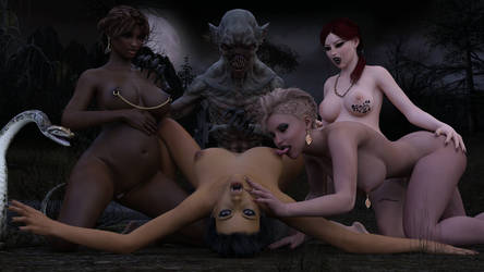 The Vampire's Brides 01B-01 (Revised) by Snapshotz3D