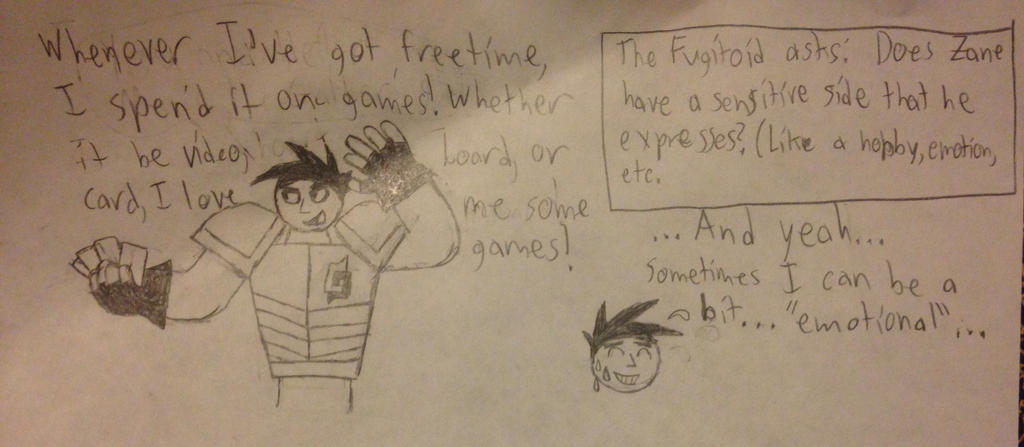 Ask #1: Zane's hobby  by ZonethBroneth