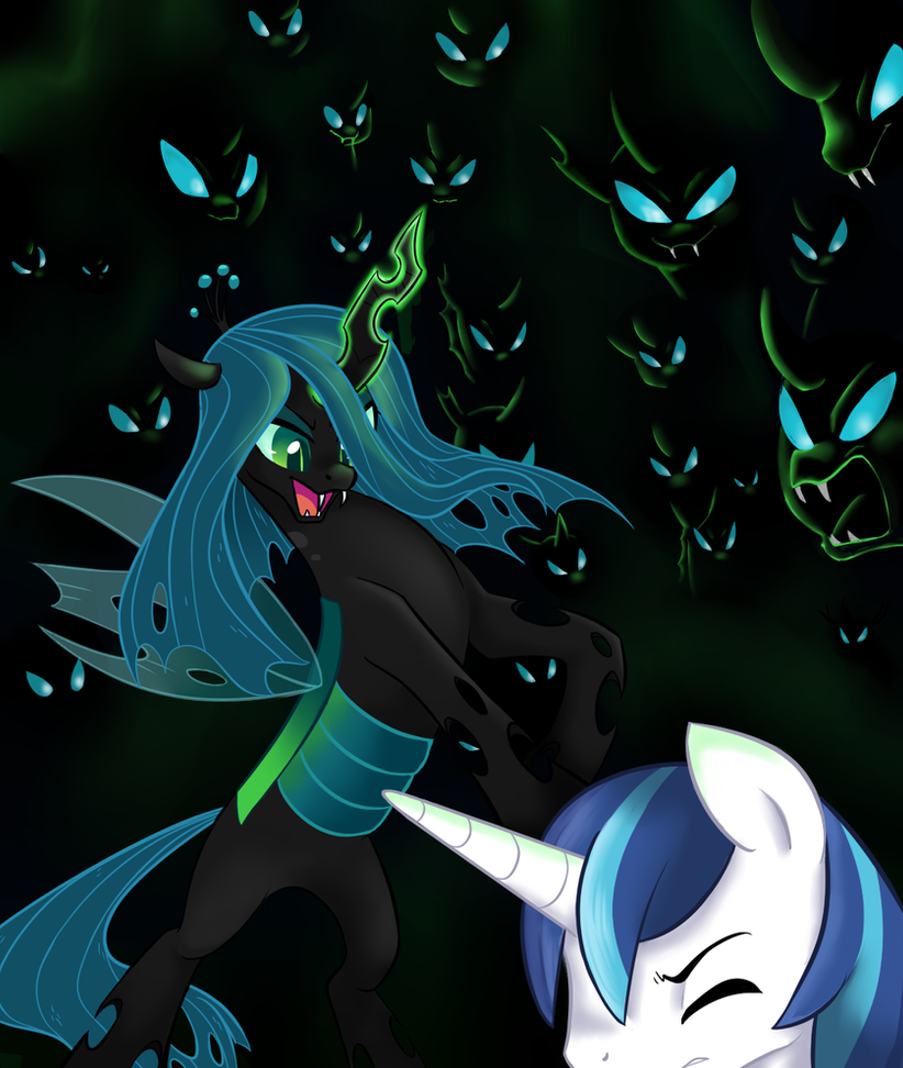 Queen Chrysalis And Shining Armor R34 This day has bee...