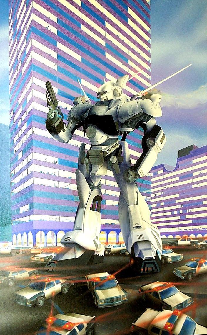 Big Robot Airbrush Painting by ChristopherHillman