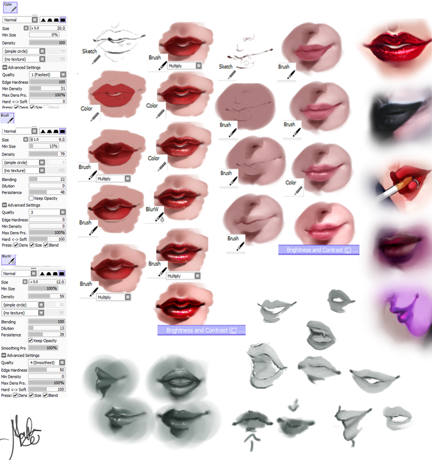 Lips - Tutorial by MarcelaFreire