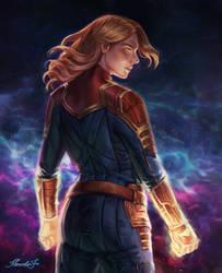 Captain marvel by MarcelaFreire