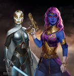 Commission: Dione and Parabellum