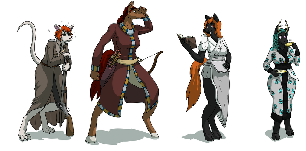 Tarcnell Character Lineup (Commission) by DocPox
