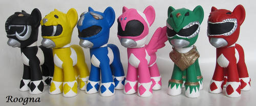 Mighty Morphin Power Ranger Ponies by Roogna