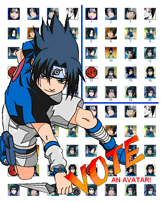 VOTE an Avatar by The-Sasuke-Club
