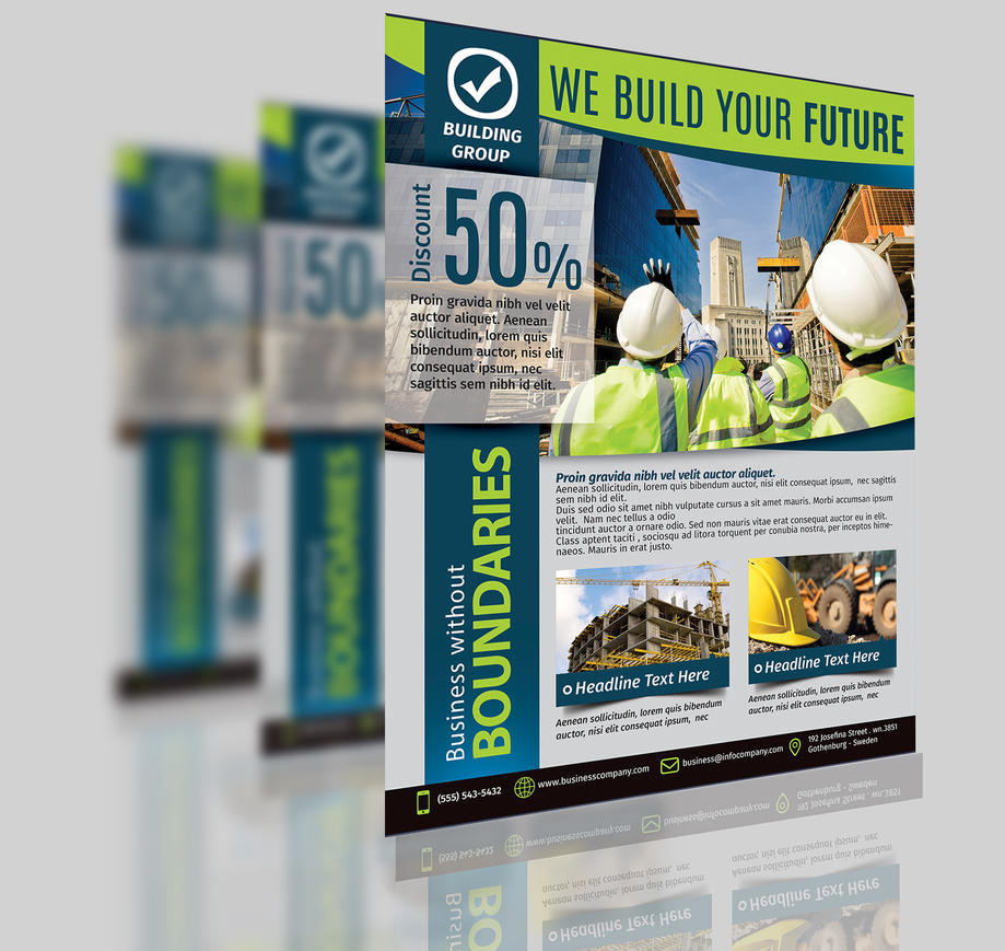 Construction Business Flyer Template Vol 3 By Aboanas Dzn