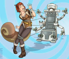 Squirrel Girl and the Hypno Chair by Ajonesindy