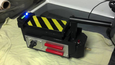 Ghostbusters 1 ghost trap after painting and on by whoisthelain