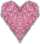 Stained Glass Filigree Heart by Trinanigans