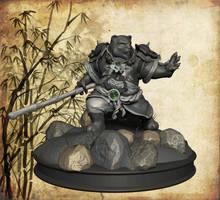 Pandaren Warrior, frontal view