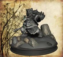 Pandaren warrior, perfil