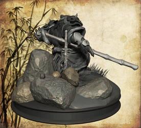 Pandaren warrior, back