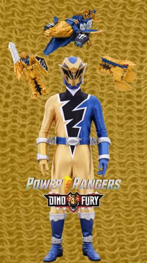 Dino Fury Gold Wallpaper