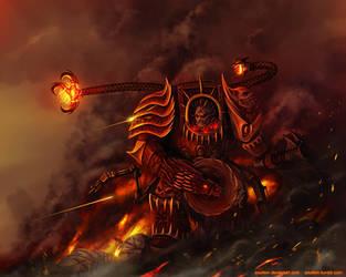 Warhammer: World Eaters Techmarine by Soulfein