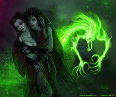 Warhammer: Neferata and Naaima by Soulfein