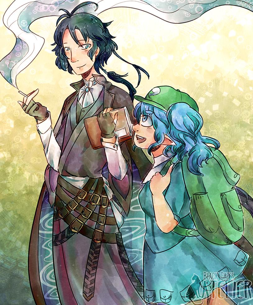 Akutagawa and Kappa by blackcatofvoid