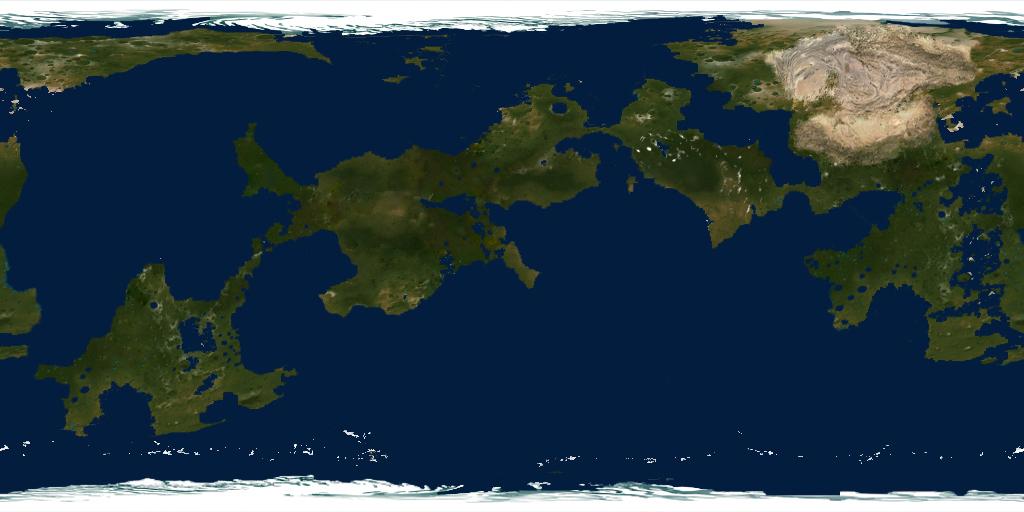 Earth Like Planet Map