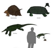 Horseshoe turtles by Dragonthunders