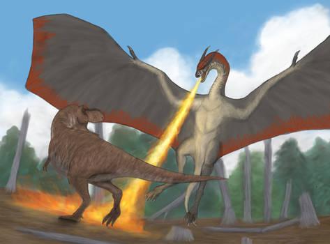 A battle of apex predators