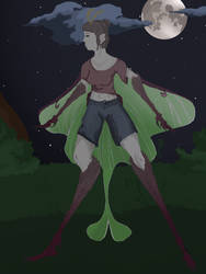Mia the Moth Girl by Pinezackle