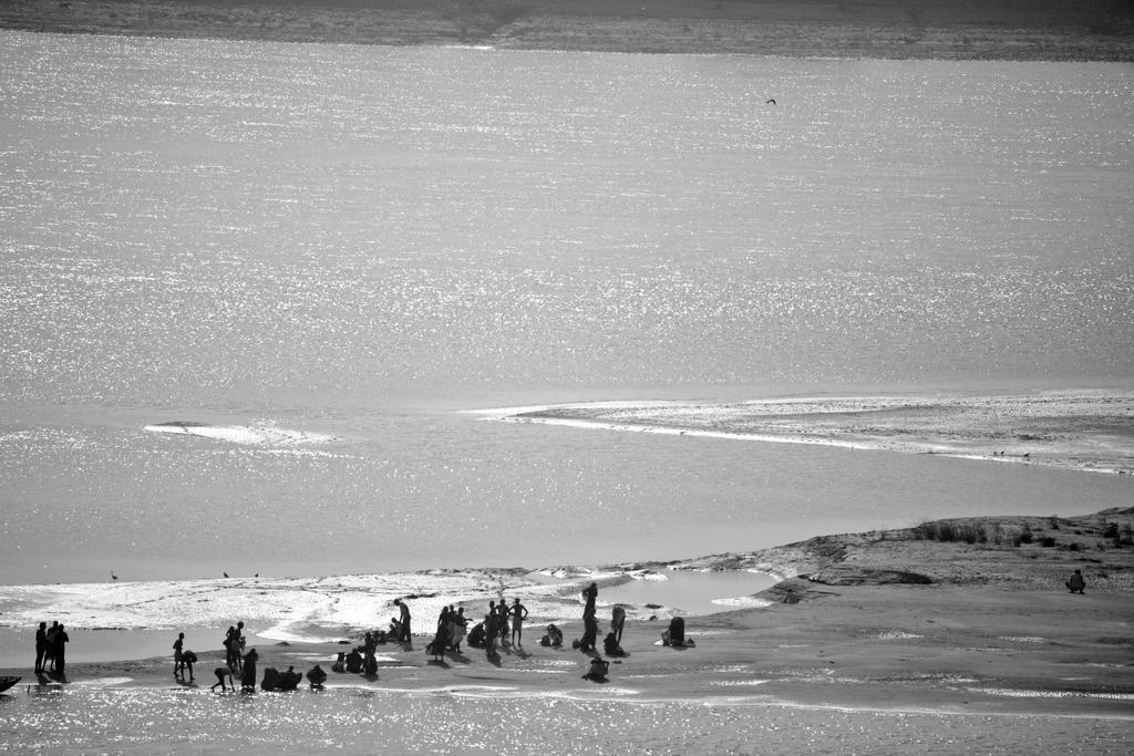 Ganges b/w by Solarstones