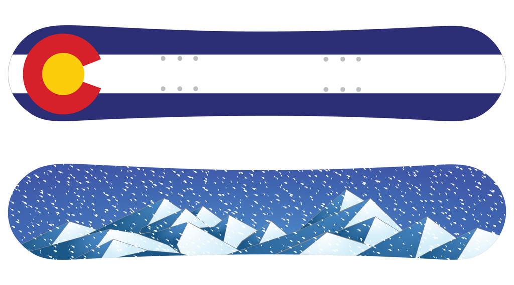 Snowboard design colorado mountain full snow by for Appartement design ski