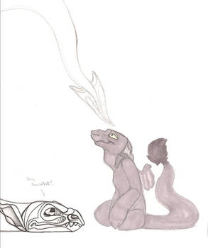 dragon and gargoyle