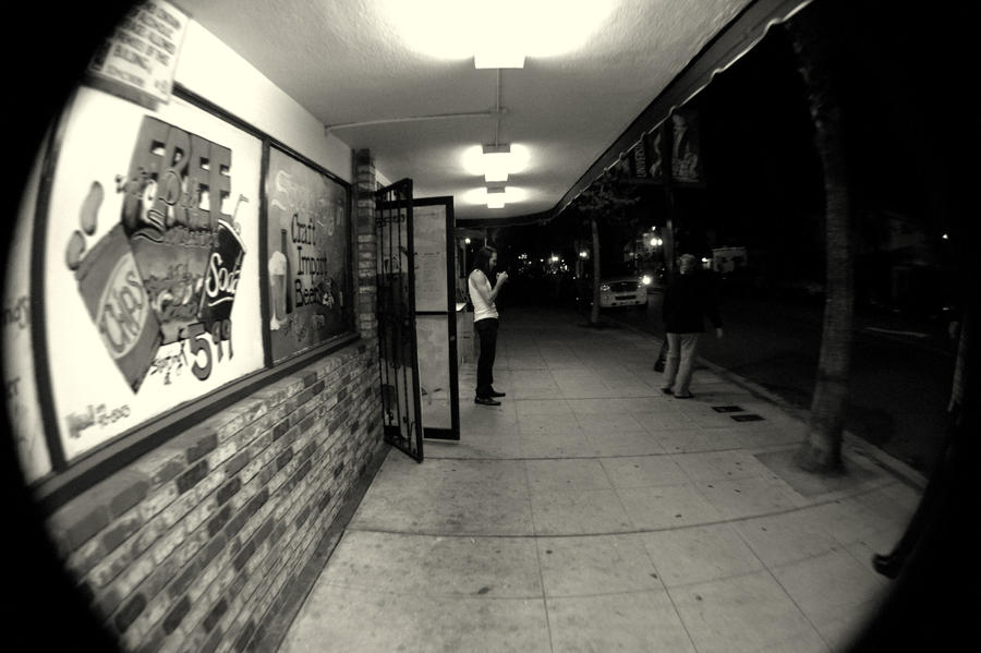 Guy in Front of Liquor Store by Kihatsusei