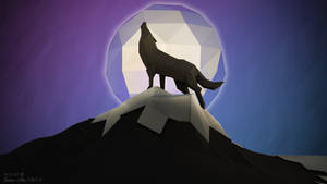 Low Poly - A Wolf's Night