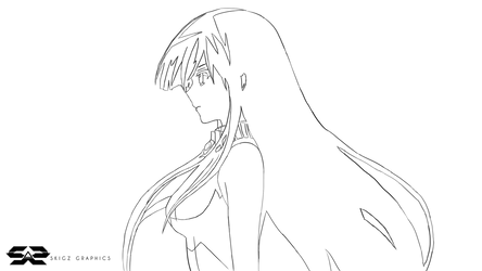 Akame (Akame ga Kill) Line Art