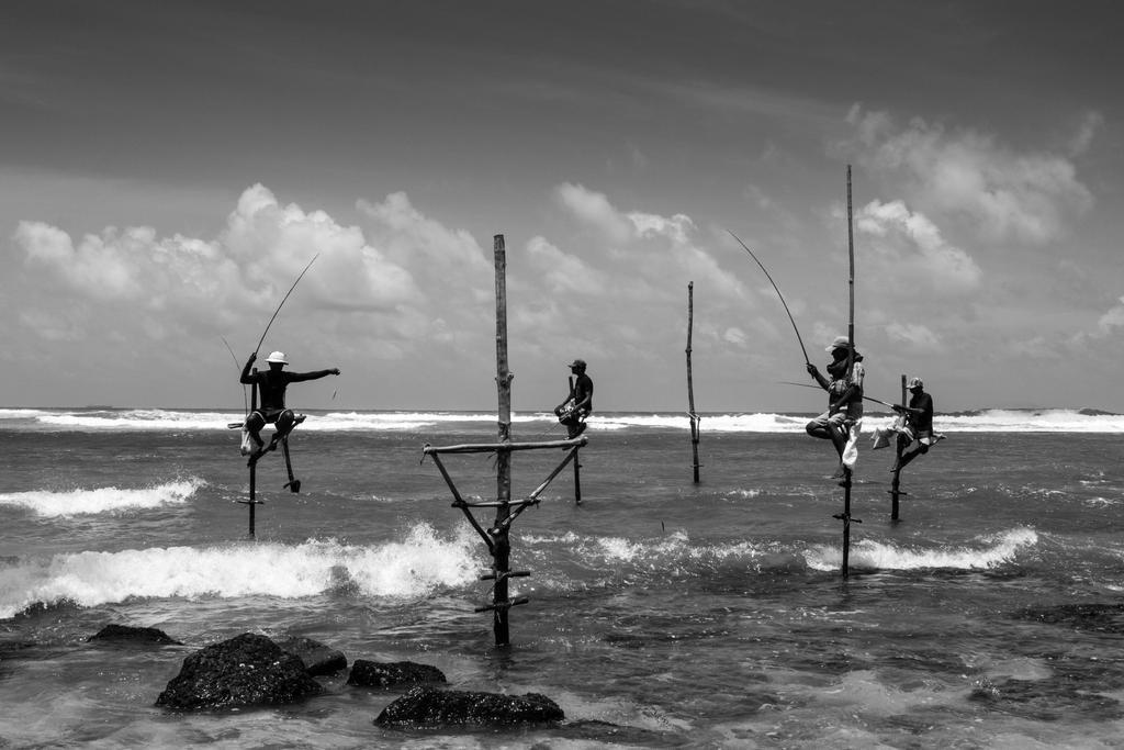 Stilt fishermen in Sri Lanka by DrDrum666