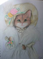 Victorian cat by lexiart32