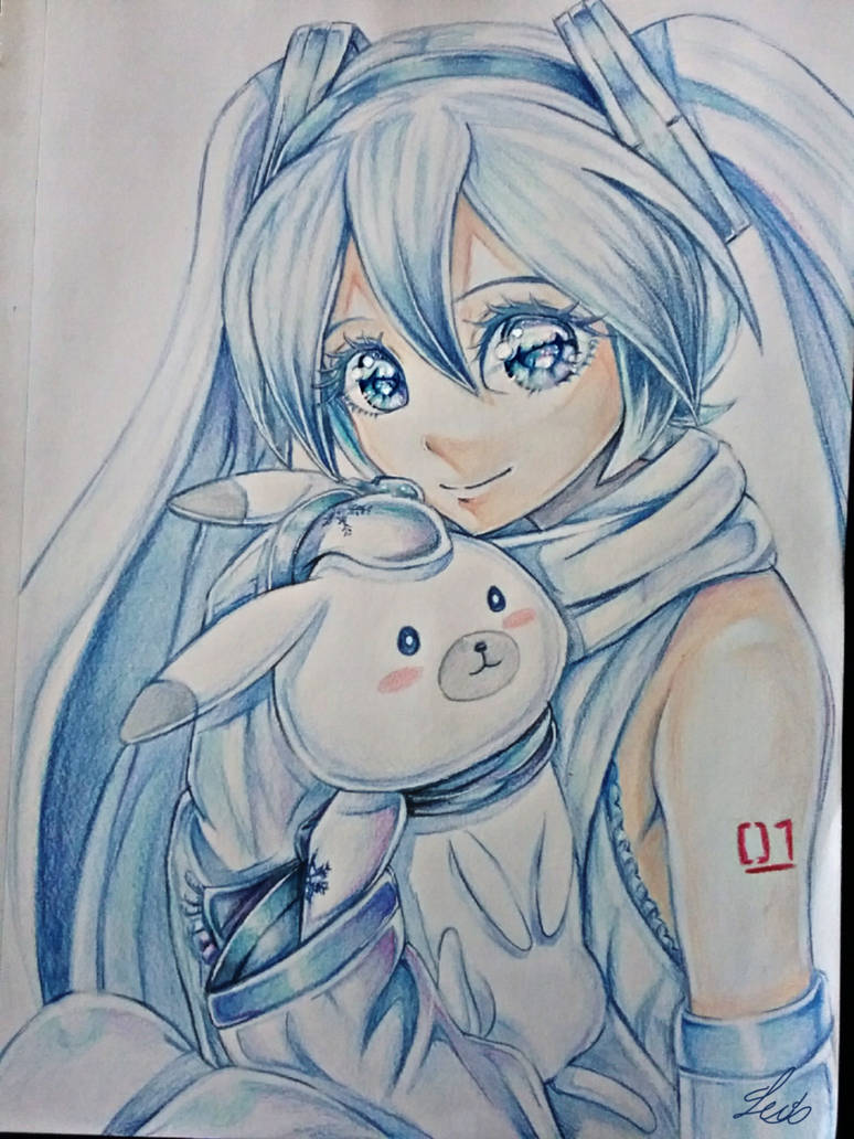 Snow Miku  by lexiart32