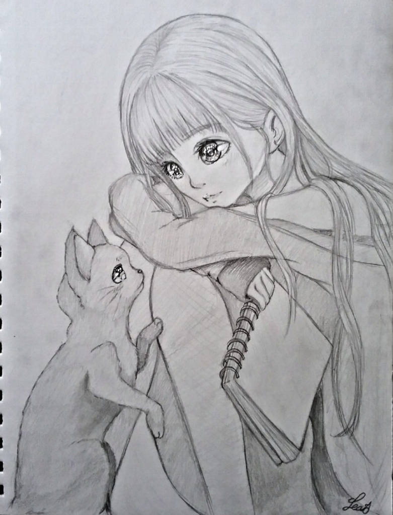 anime girl  by lexiart32